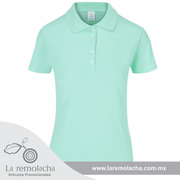 Playera Polo Dama Aqua