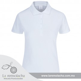 Playera Polo Dama Blanco
