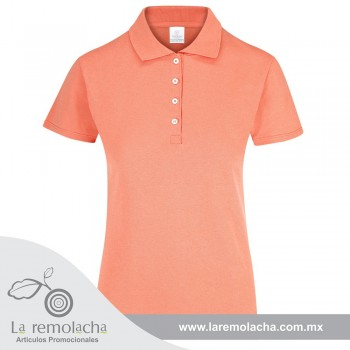 Playera Polo Dama Coral
