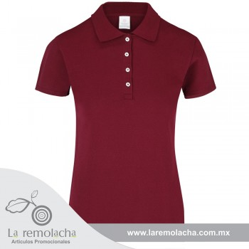 Playera Polo Dama Marron