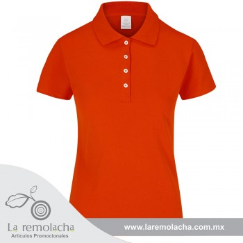 Playera Polo Dama Naranja