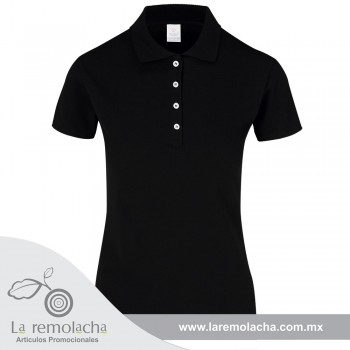 Playera Polo Dama Negro