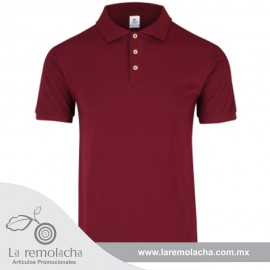 Playera Polo Caballero Marron