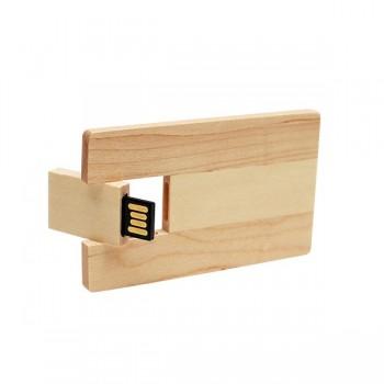 USB ecológica en forma de tarjeta de crédito.