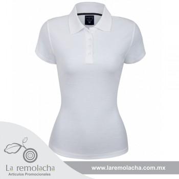 Playera Polo Blanca para Dama