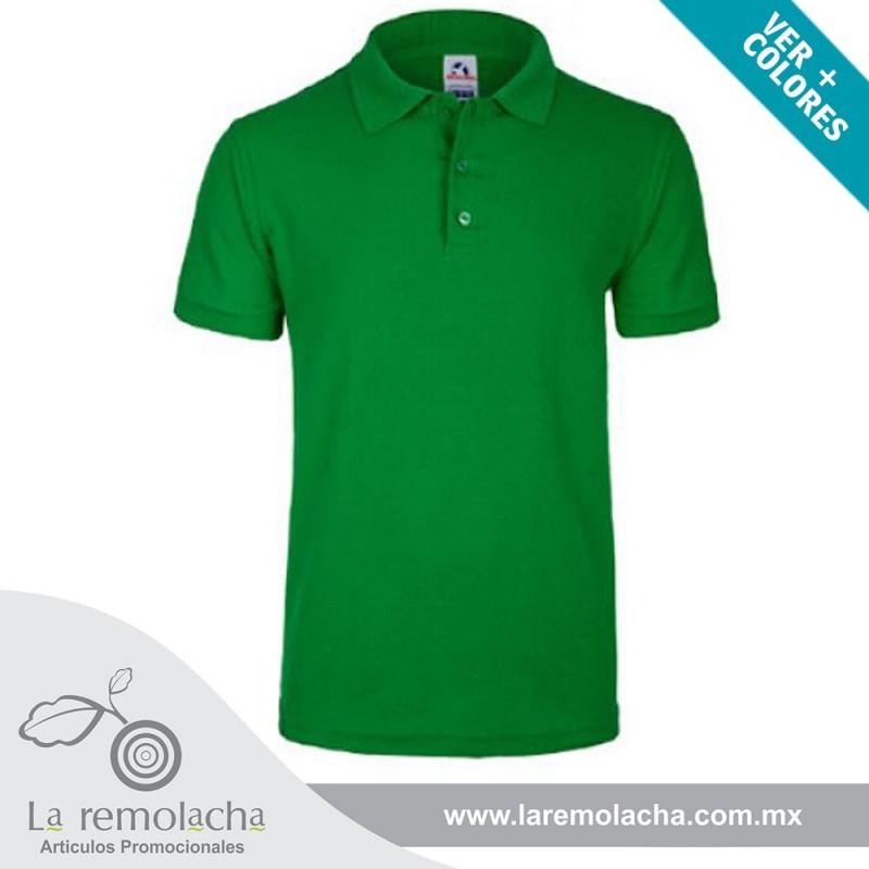 Playera Polo Verde Manzana para caballero