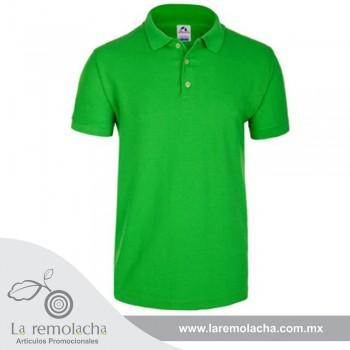 Playera Polo Verde Limon para caballero