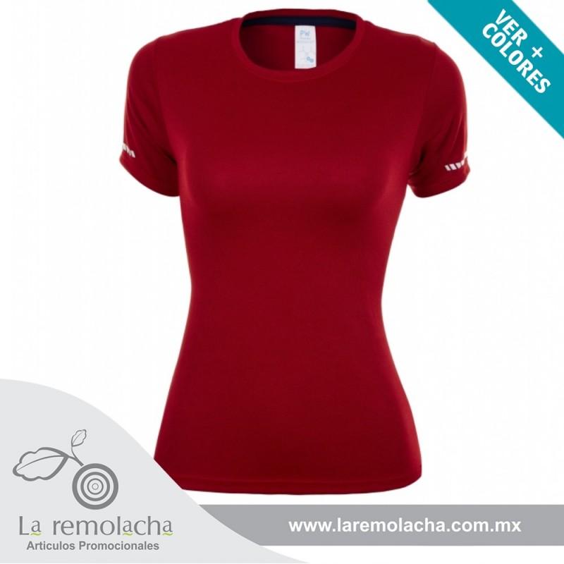 Playera Dryfit cuello redondo para dama Roja
