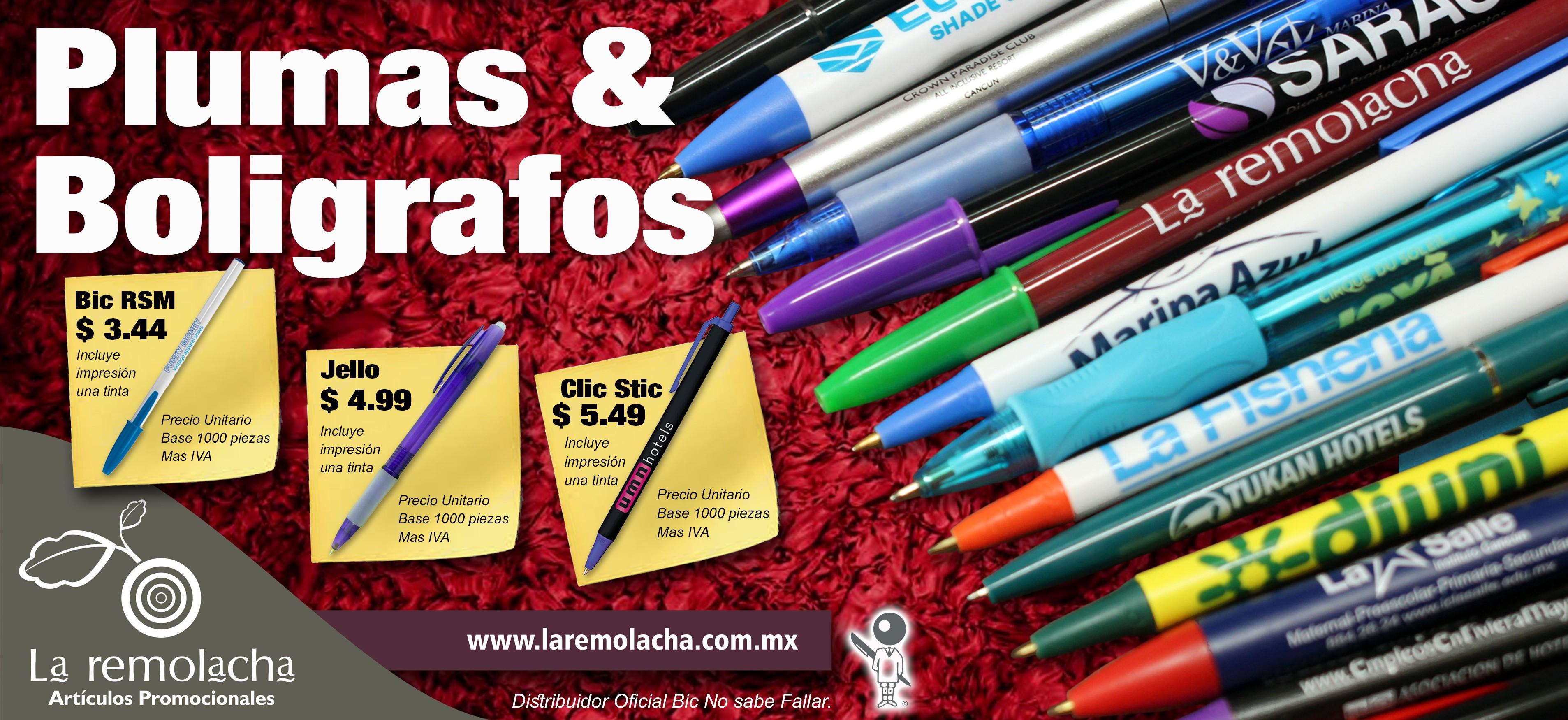 Plumas promocionales Cancun